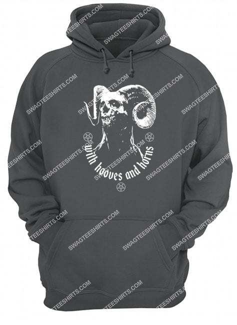 with hooves and horns satan satanic halloween hoodie 1
