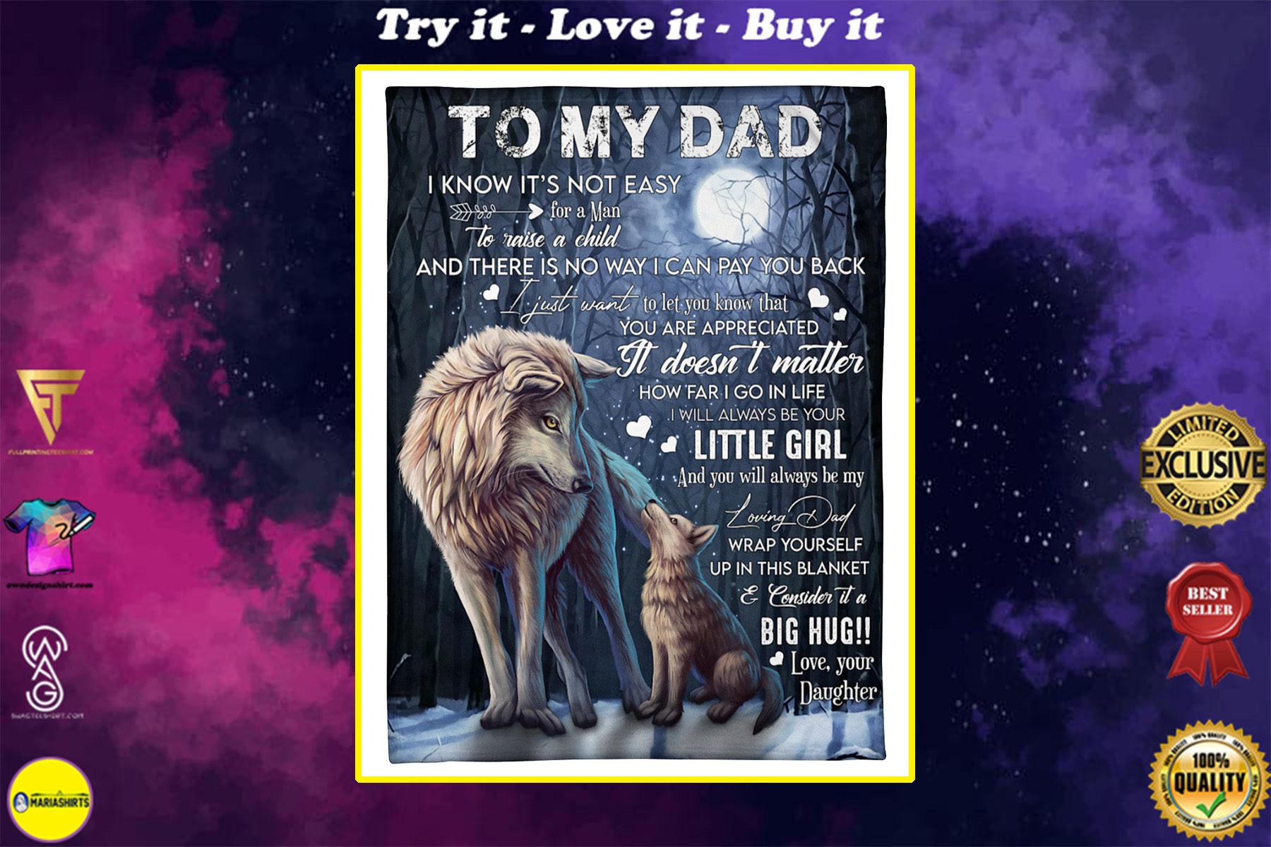 woft to my dad i know its not easy your daughter blanket