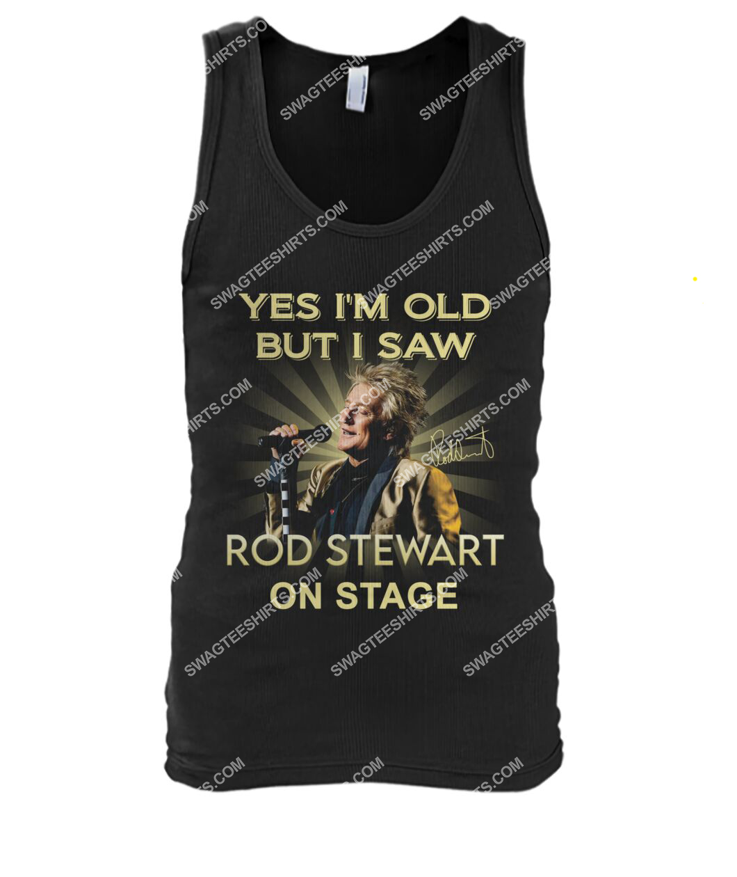 yes i am old but i saw rob stewart on stage vintage tank top 1
