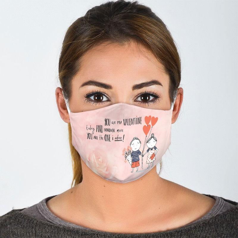 you are my valentine today and forever more all over print face mask 2