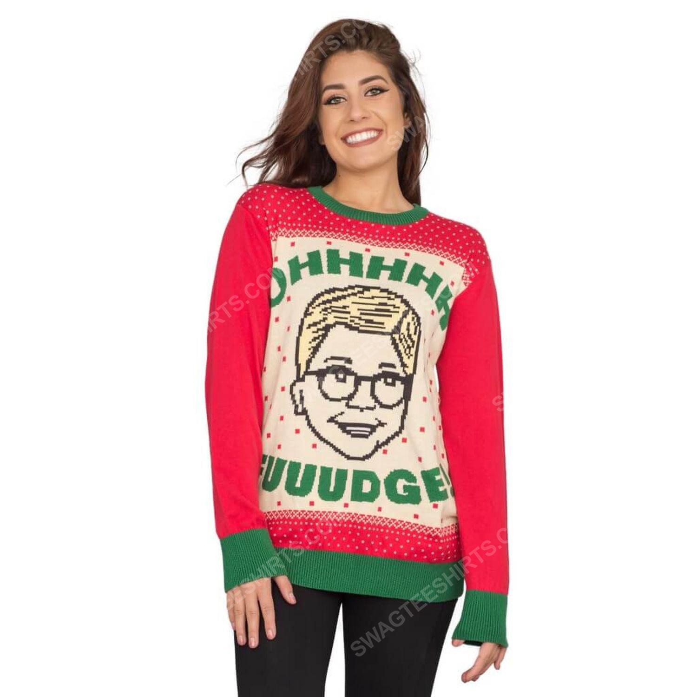 A christmas story ohhhh fuuudge ralphie ugly christmas sweater 2