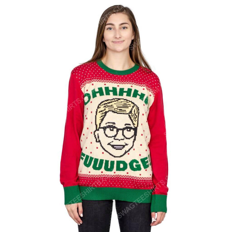 A christmas story ohhhh fuuudge ralphie ugly christmas sweater 3