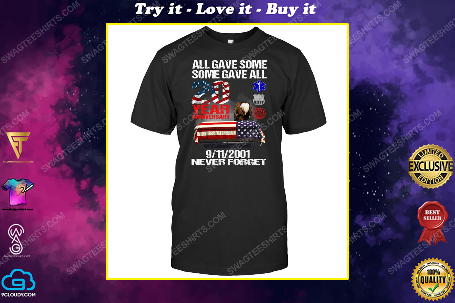 All gave some some gave all 20 year anniversary 9 2001 never forget political shirt