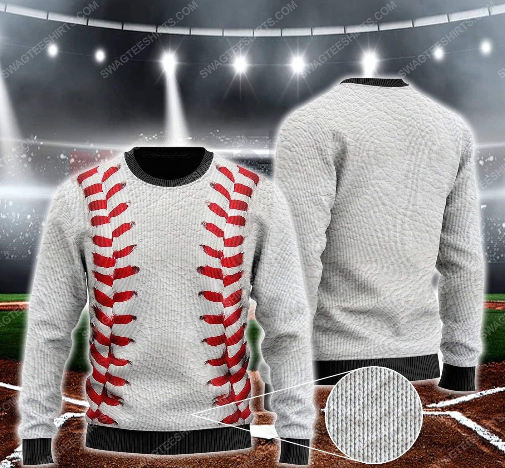 Baseball pattern all over print ugly christmas sweater 1 - Copy - Copy