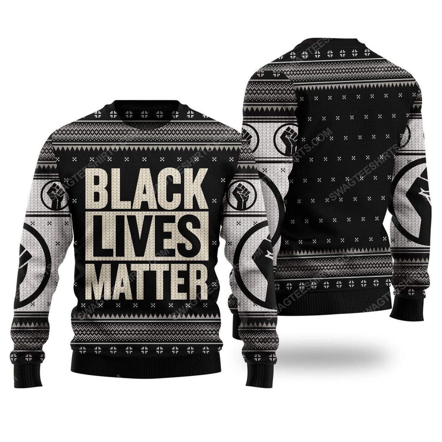 Black lives matter all over print ugly christmas sweater 2 - Copy