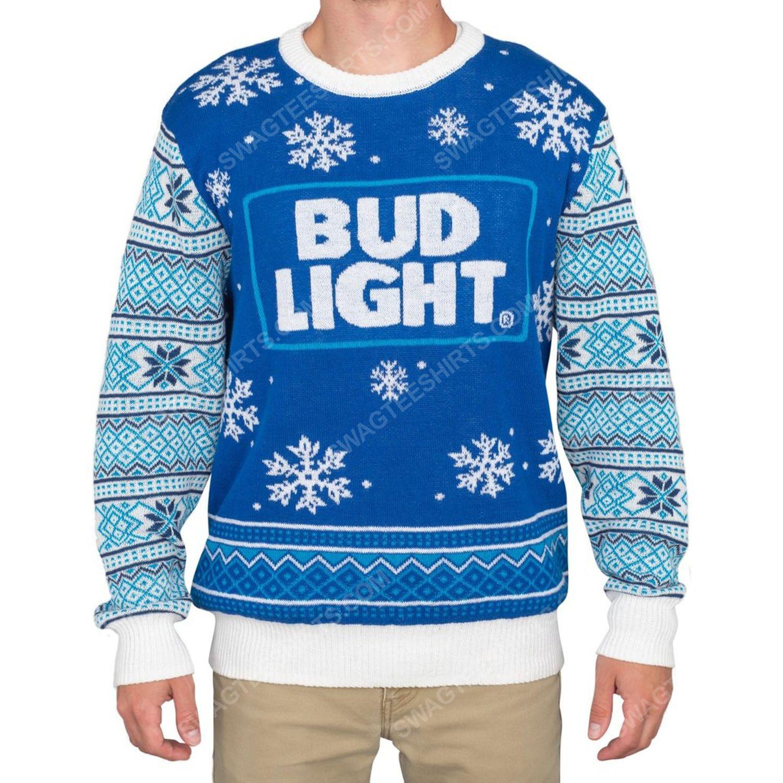 Bud light beer logo full print ugly christmas sweater 2 - Copy