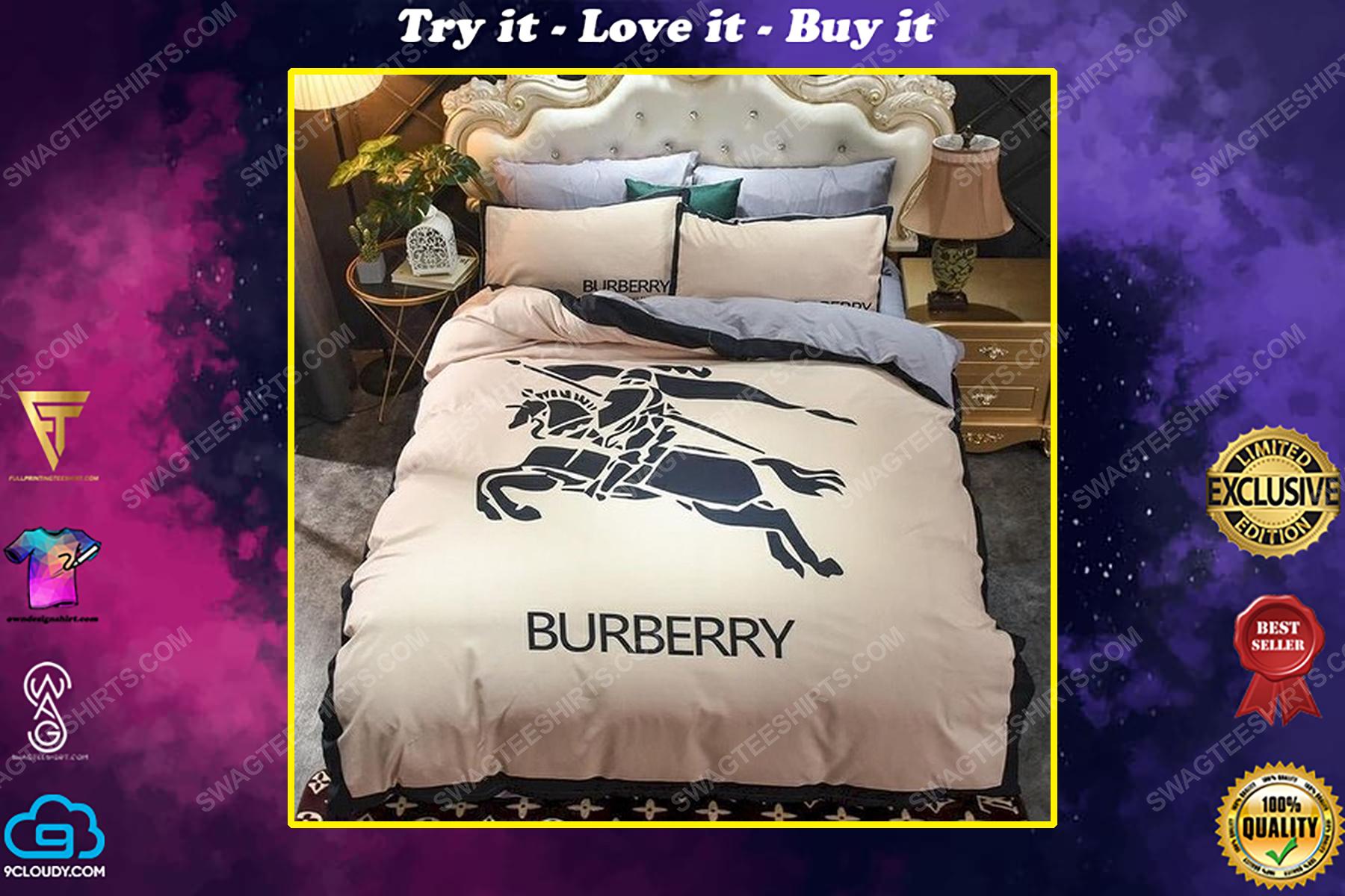 Burberry symbol full print duvet cover bedding set