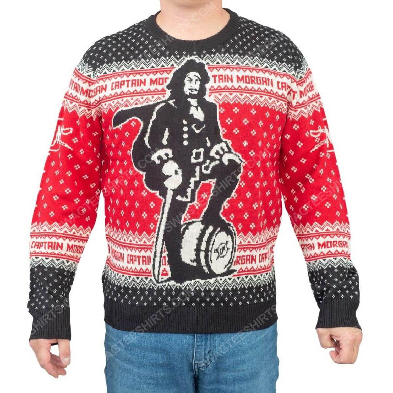 Captain morgan dark rum full print ugly christmas sweater 2 - Copy