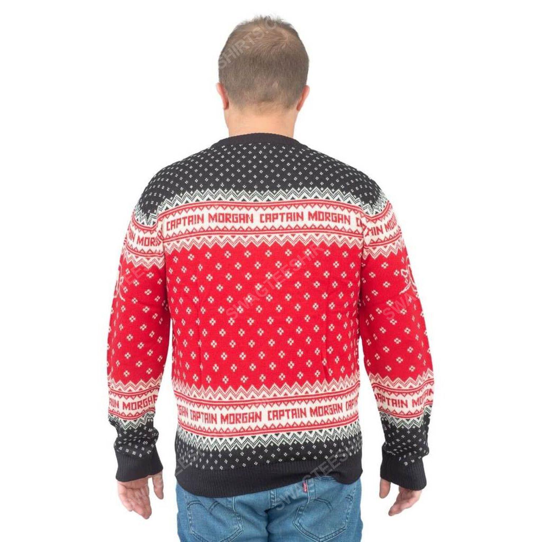 Captain morgan dark rum full print ugly christmas sweater 3 - Copy