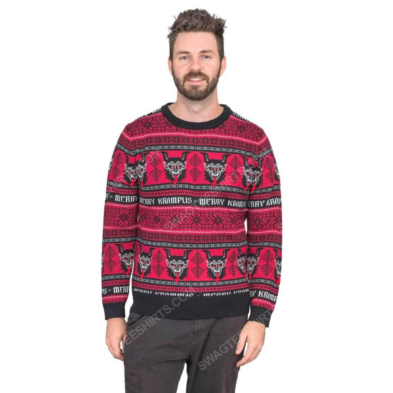 Christmas time merry krampus full print ugly christmas sweater 2