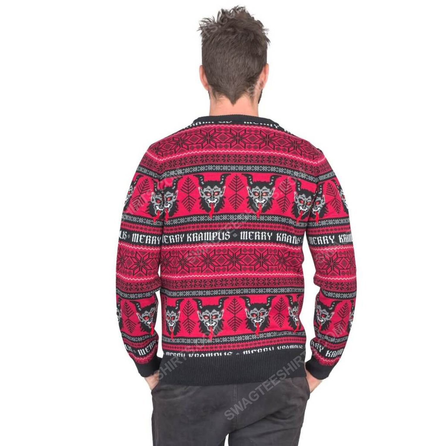 Christmas time merry krampus full print ugly christmas sweater 4
