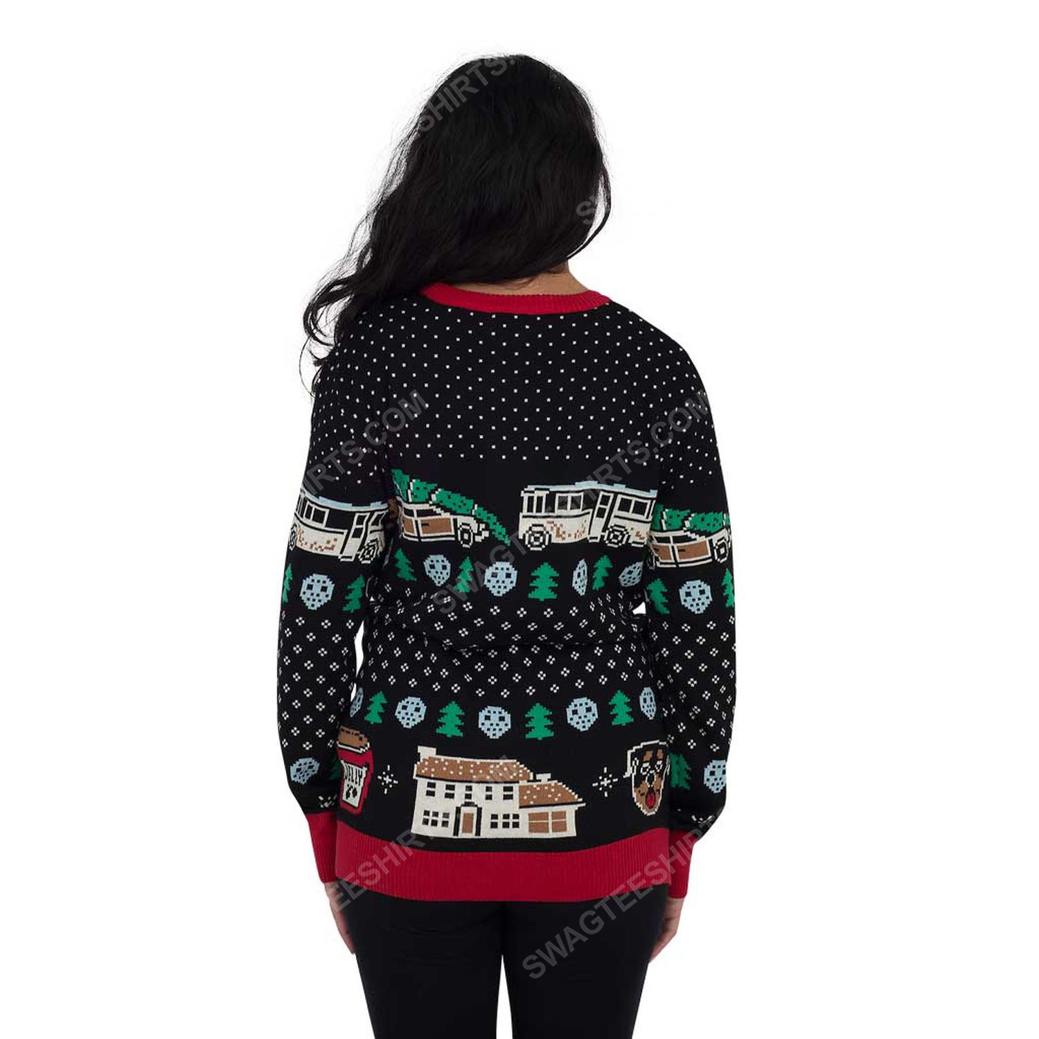 Christmas vacation fun old-fashioned family full print ugly christmas sweater 3 - Copy