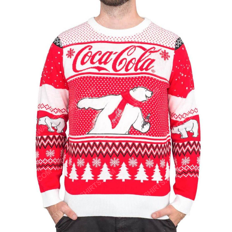 Coca-cola polar bear coke full print ugly christmas sweater 2