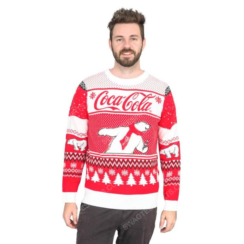 Coca-cola polar bear coke full print ugly christmas sweater 3