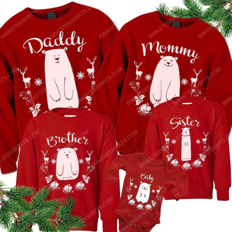 Custom for family christmas bear ugly christmas sweater 2 - Copy