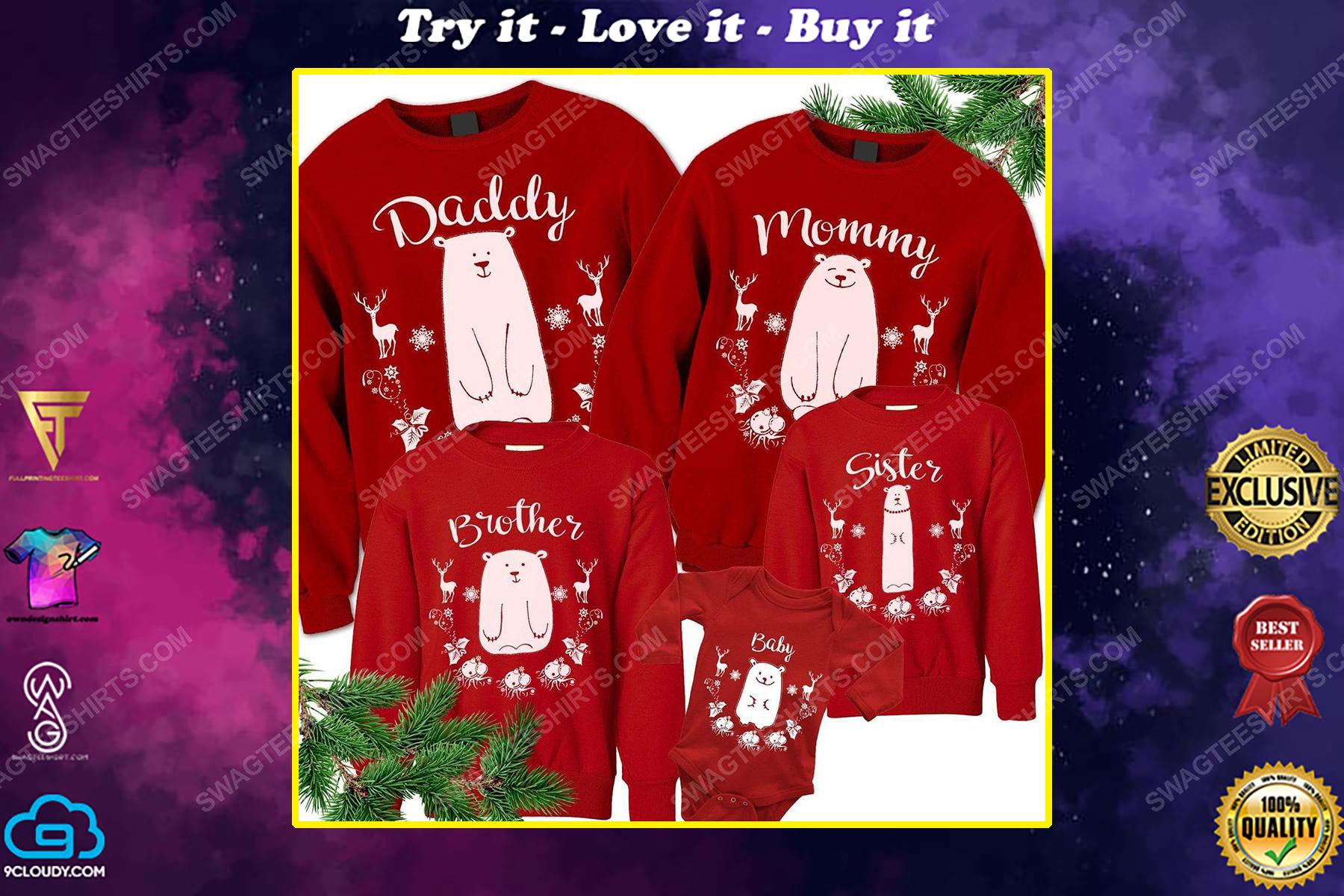 Custom for family christmas bear ugly christmas sweater