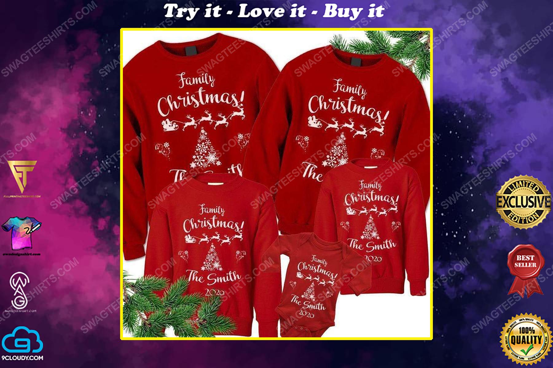 Custom for family christmas ugly christmas sweater