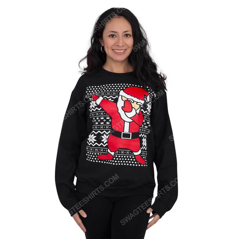 Dabbing santa claus full print ugly christmas sweater 2