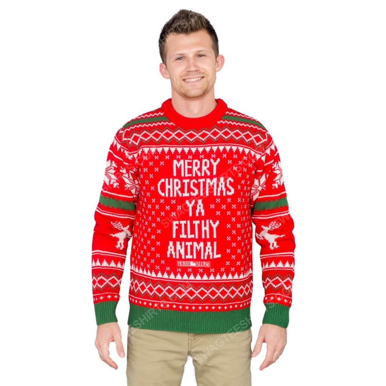 Dr seuss merry christmas ya filthy animal ugly christmas sweater 2