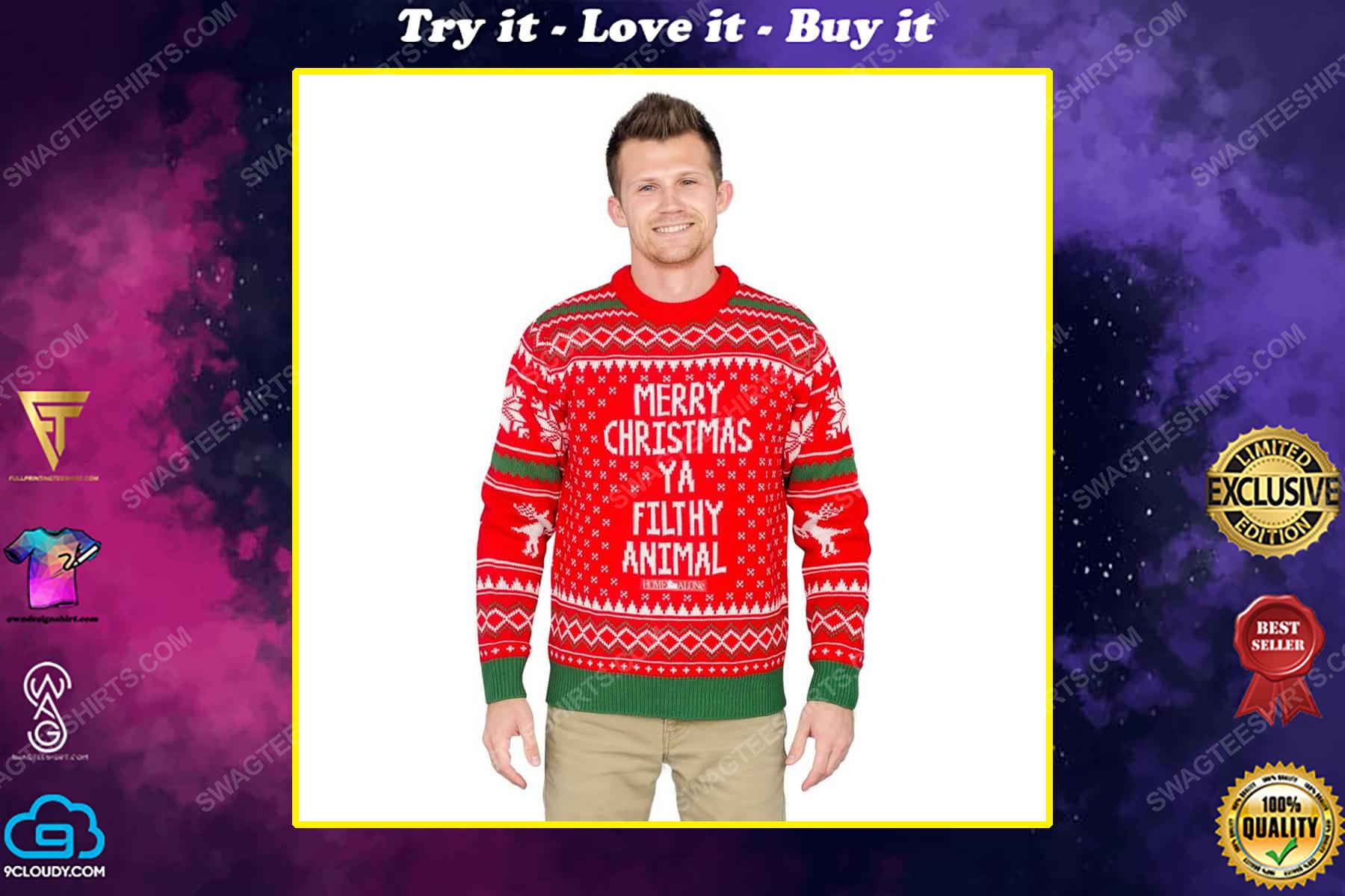 Dr seuss merry christmas ya filthy animal ugly christmas sweater