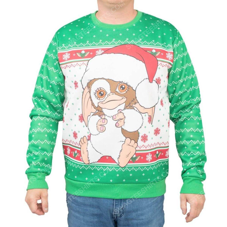 Gremlins gizmo santa full print ugly christmas sweater 2