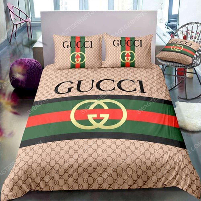 Gucci symbol full print duvet cover bedding set 3 - Copy