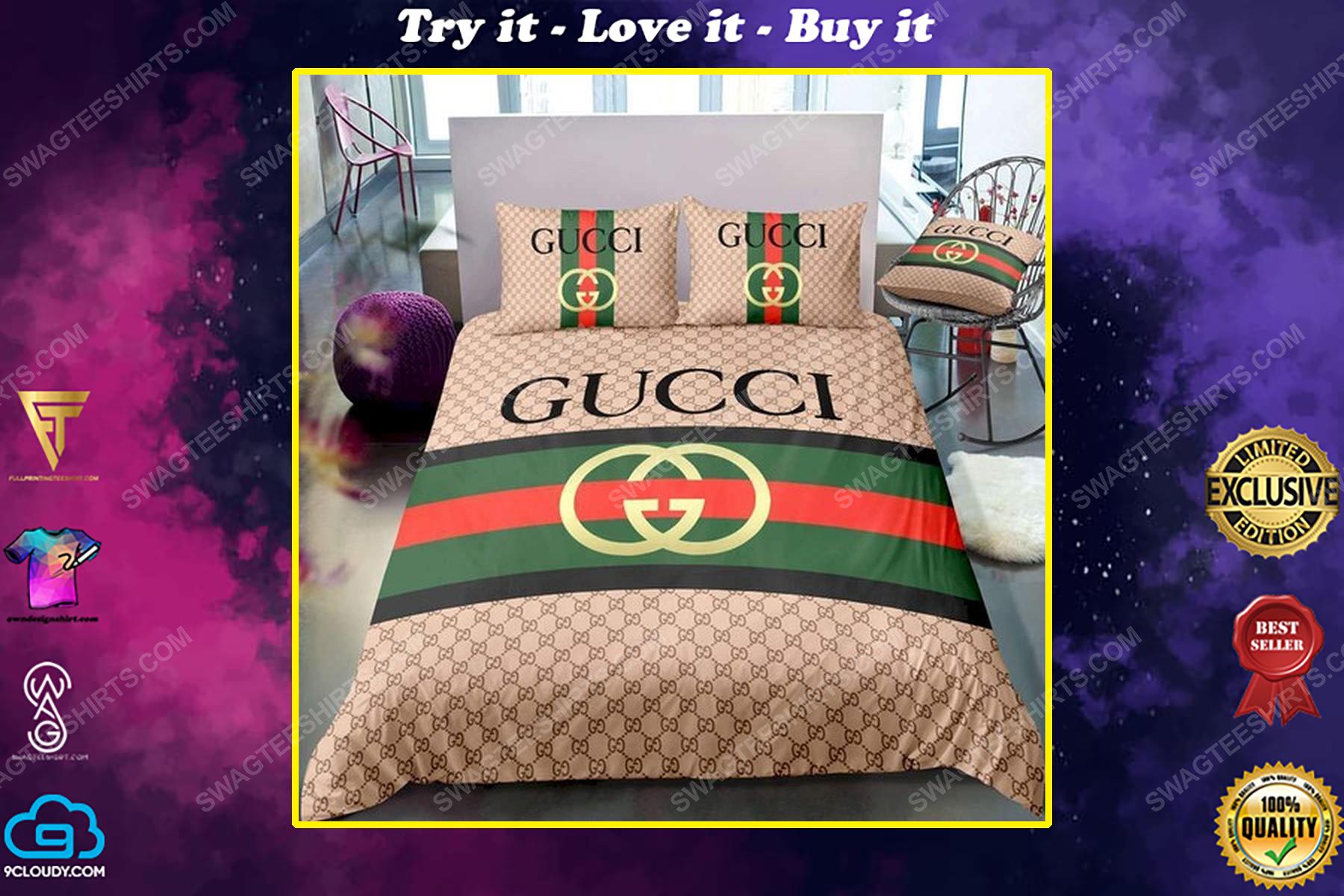 Gucci symbol full print duvet cover bedding set
