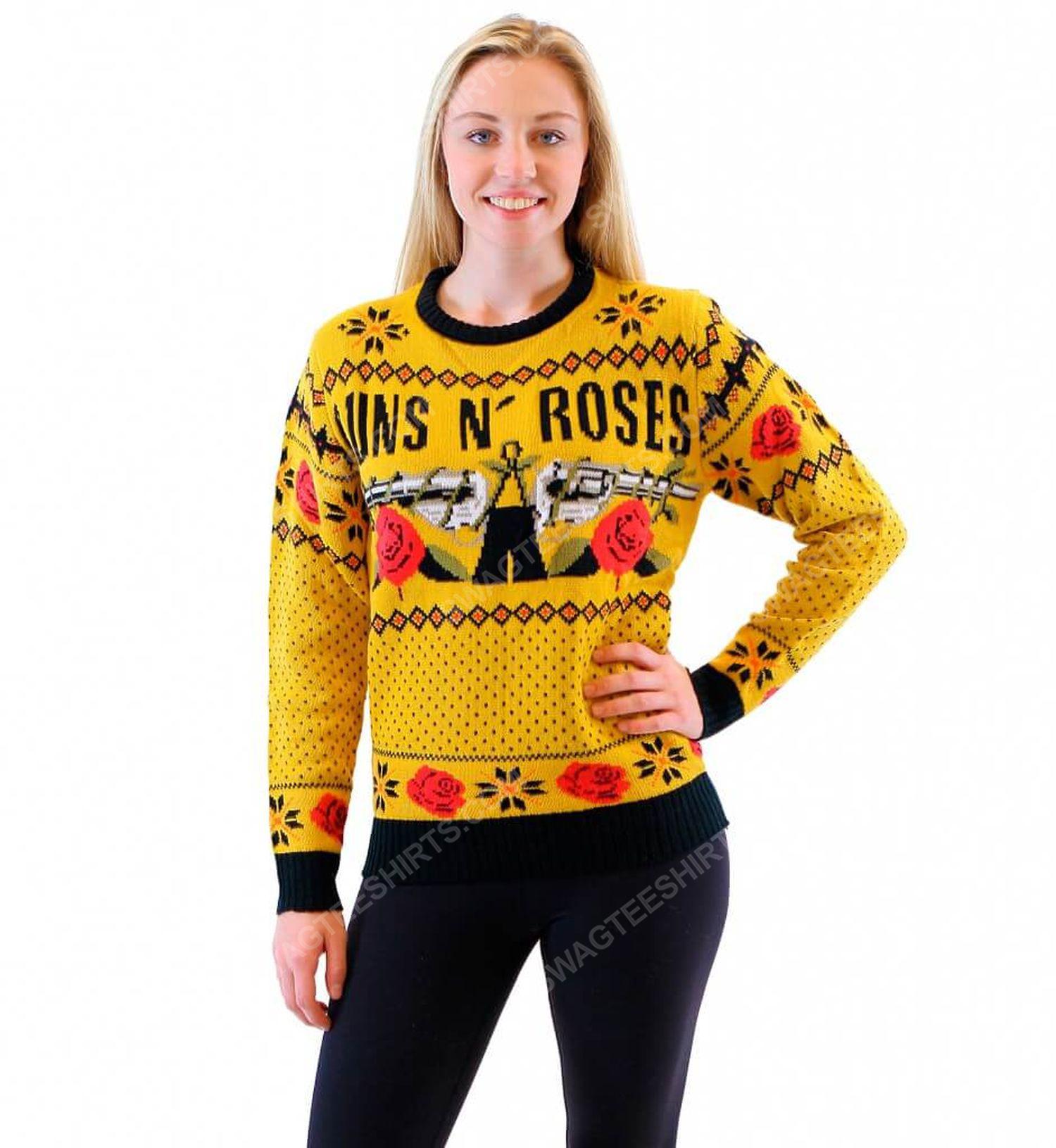 Guns n' roses rock band full print ugly christmas sweater 2