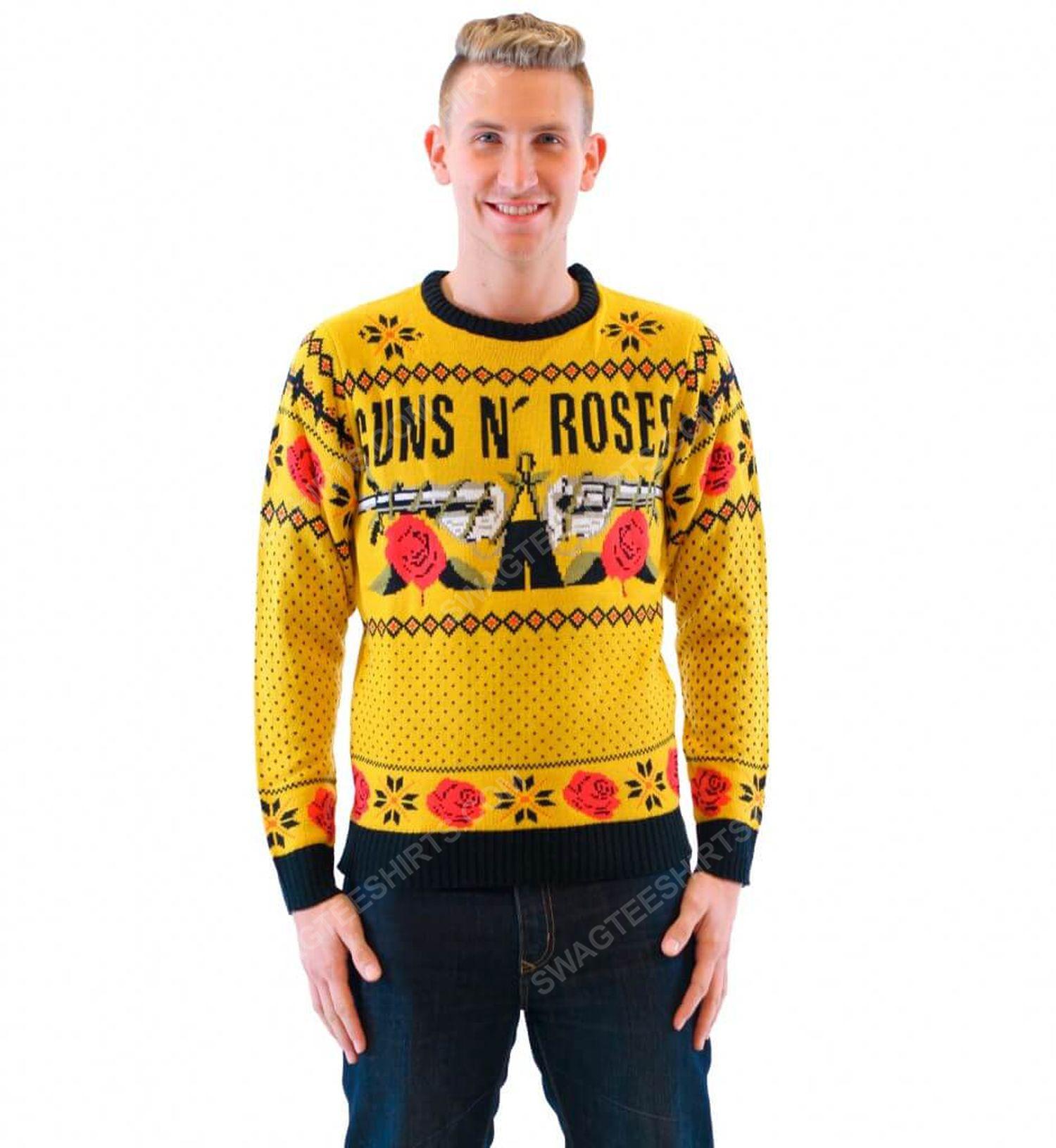 Guns n' roses rock band full print ugly christmas sweater 3