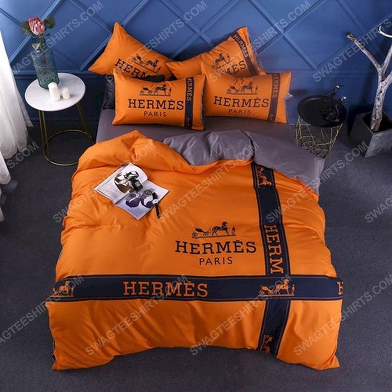 Hermes symbol full print duvet cover bedding set 2