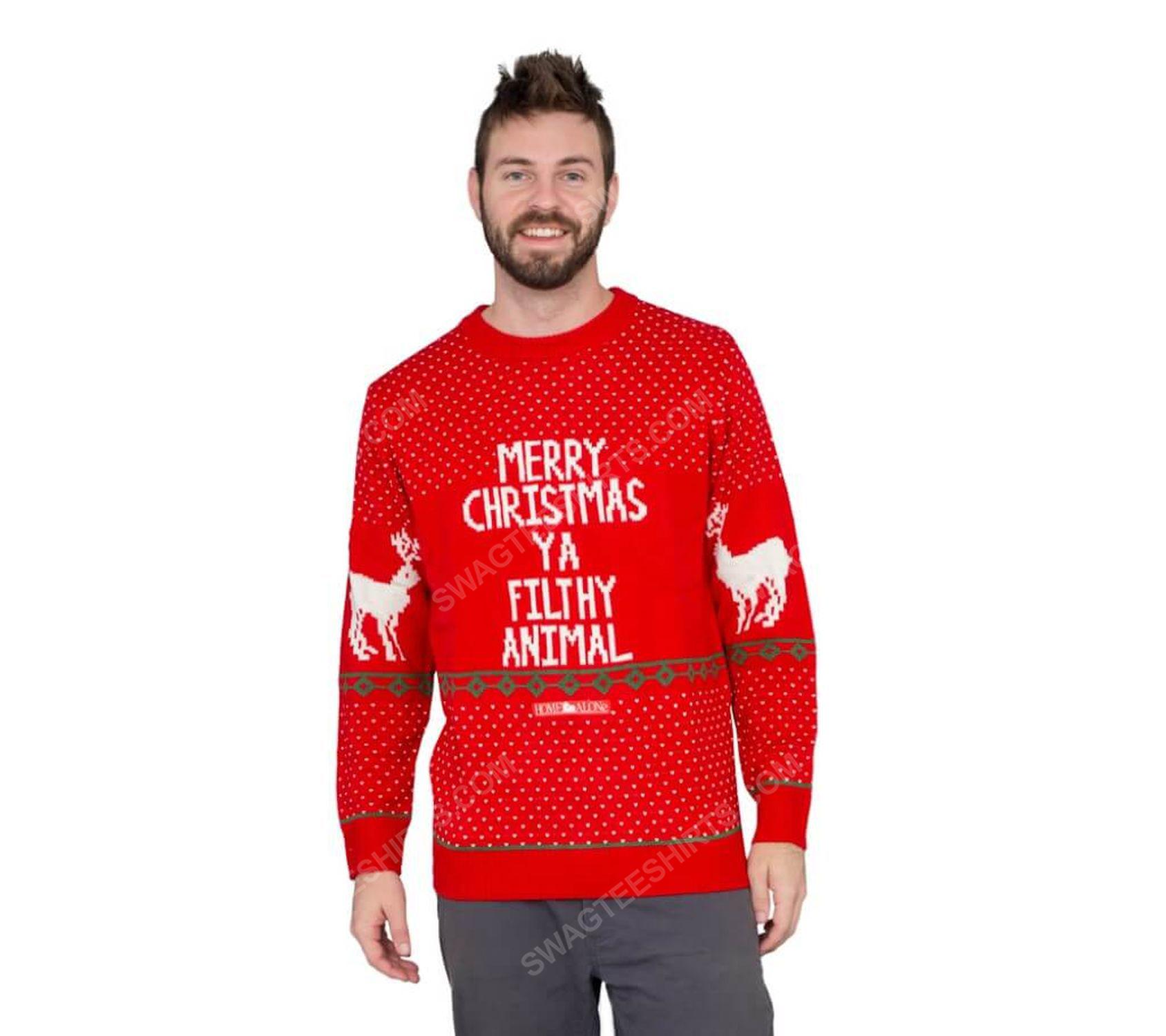 Home alone merry christmas ya filthy animal ugly christmas sweater 2