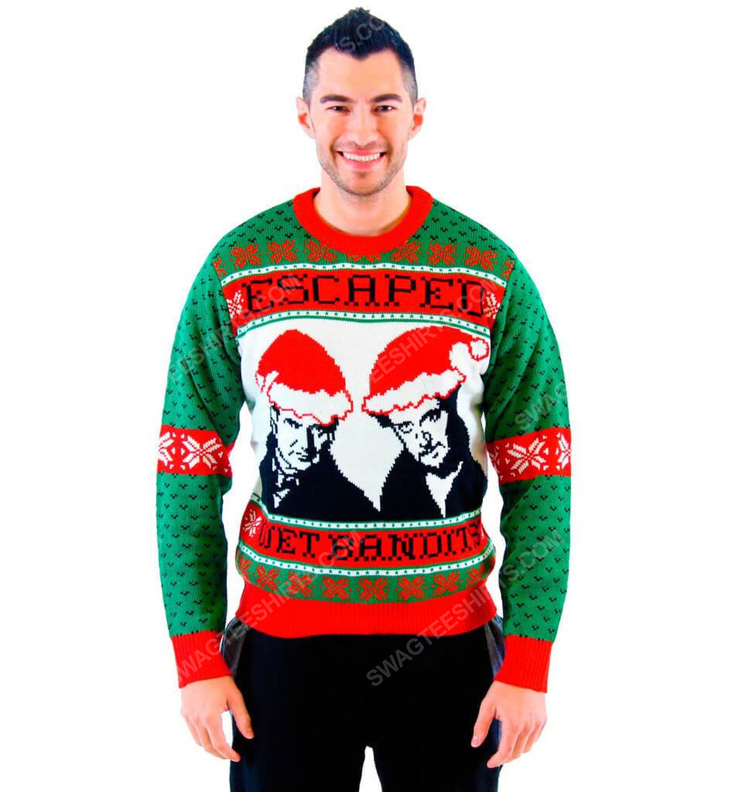 Home alone wet bandits full print ugly christmas sweater 2 - Copy
