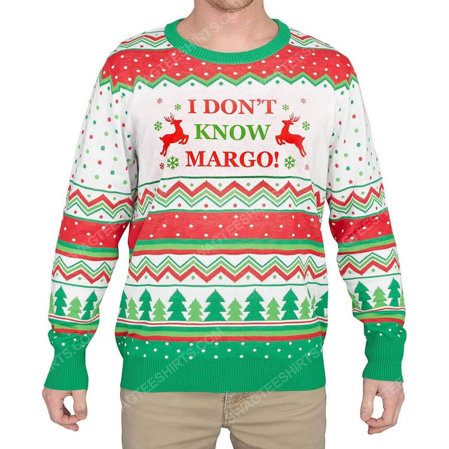 I don't know margo full print ugly christmas sweater 2 - Copy