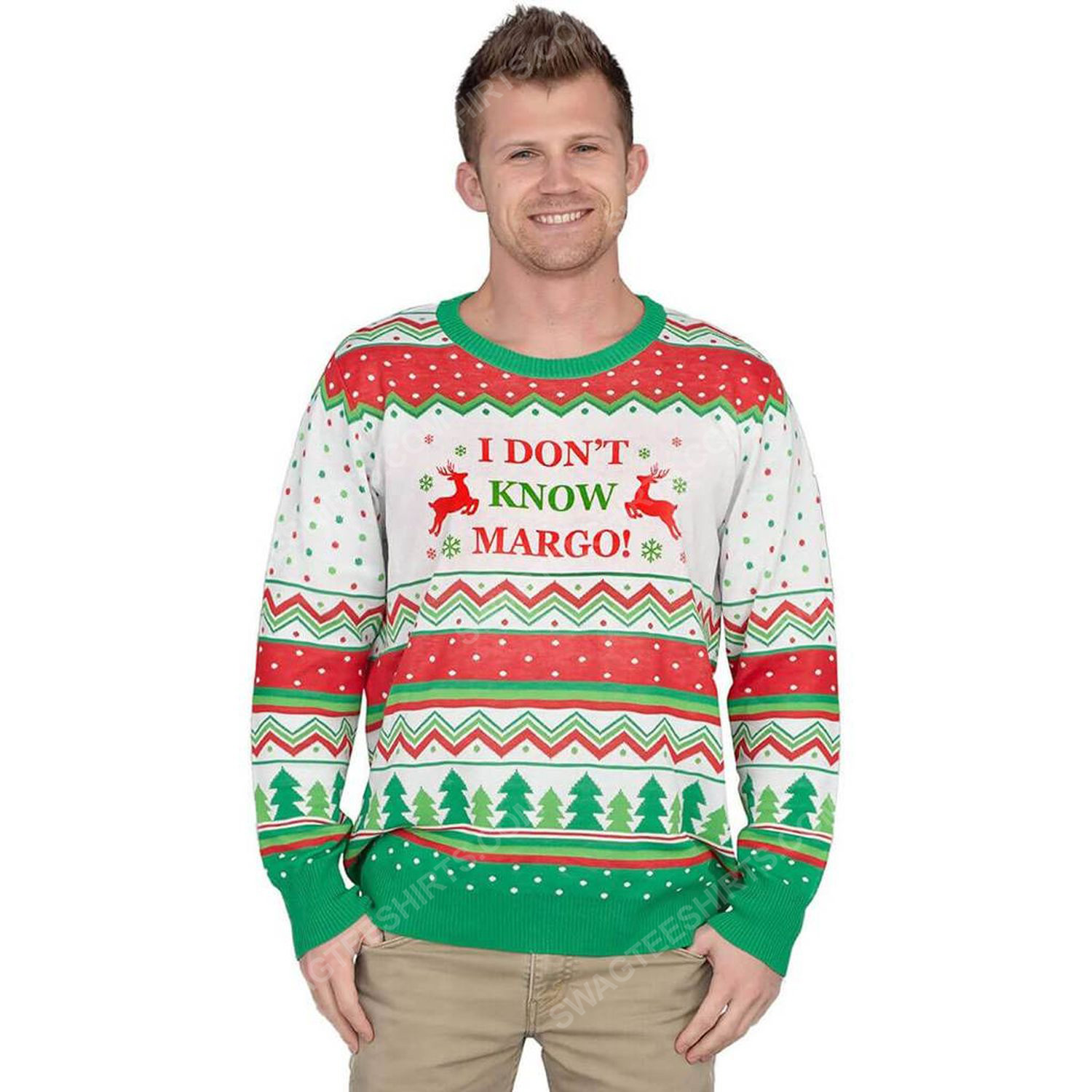 I don't know margo full print ugly christmas sweater 3