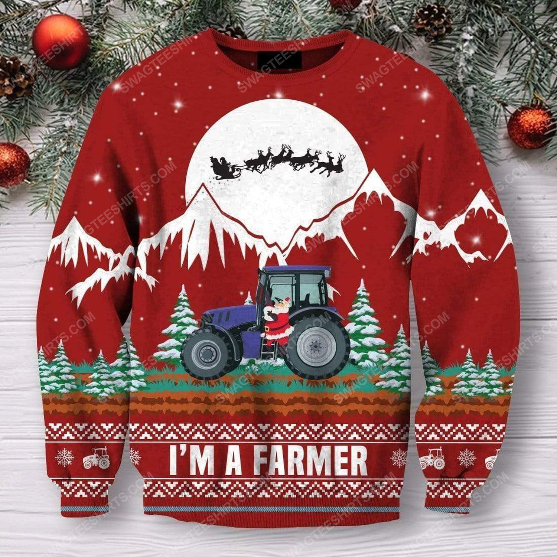 I'm a farmer all over print ugly christmas sweater 2 - Copy
