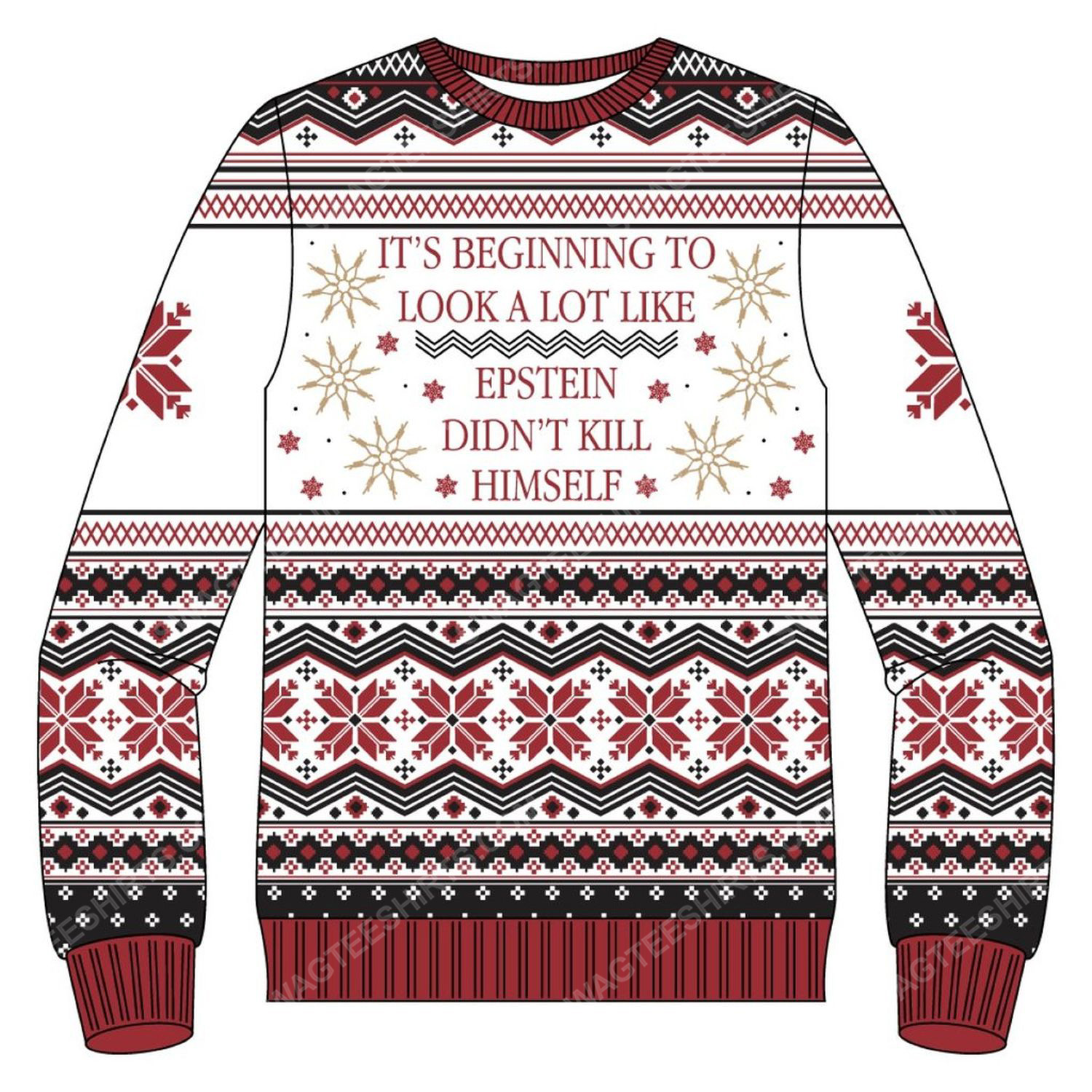 It's beginning to look a lot like epstein didn't kill himself ugly christmas sweater 2 - Copy (2)