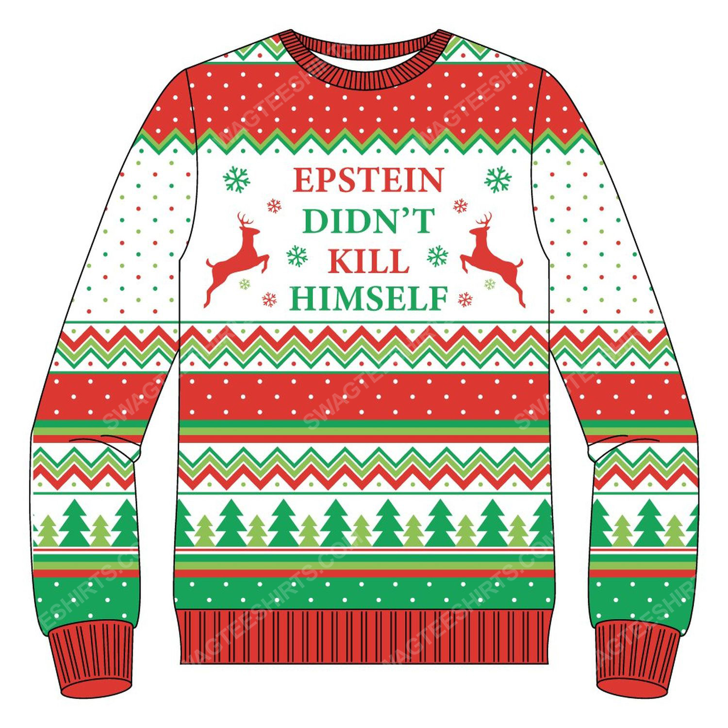 It's beginning to look a lot like epstein didn't kill himself ugly christmas sweater 4