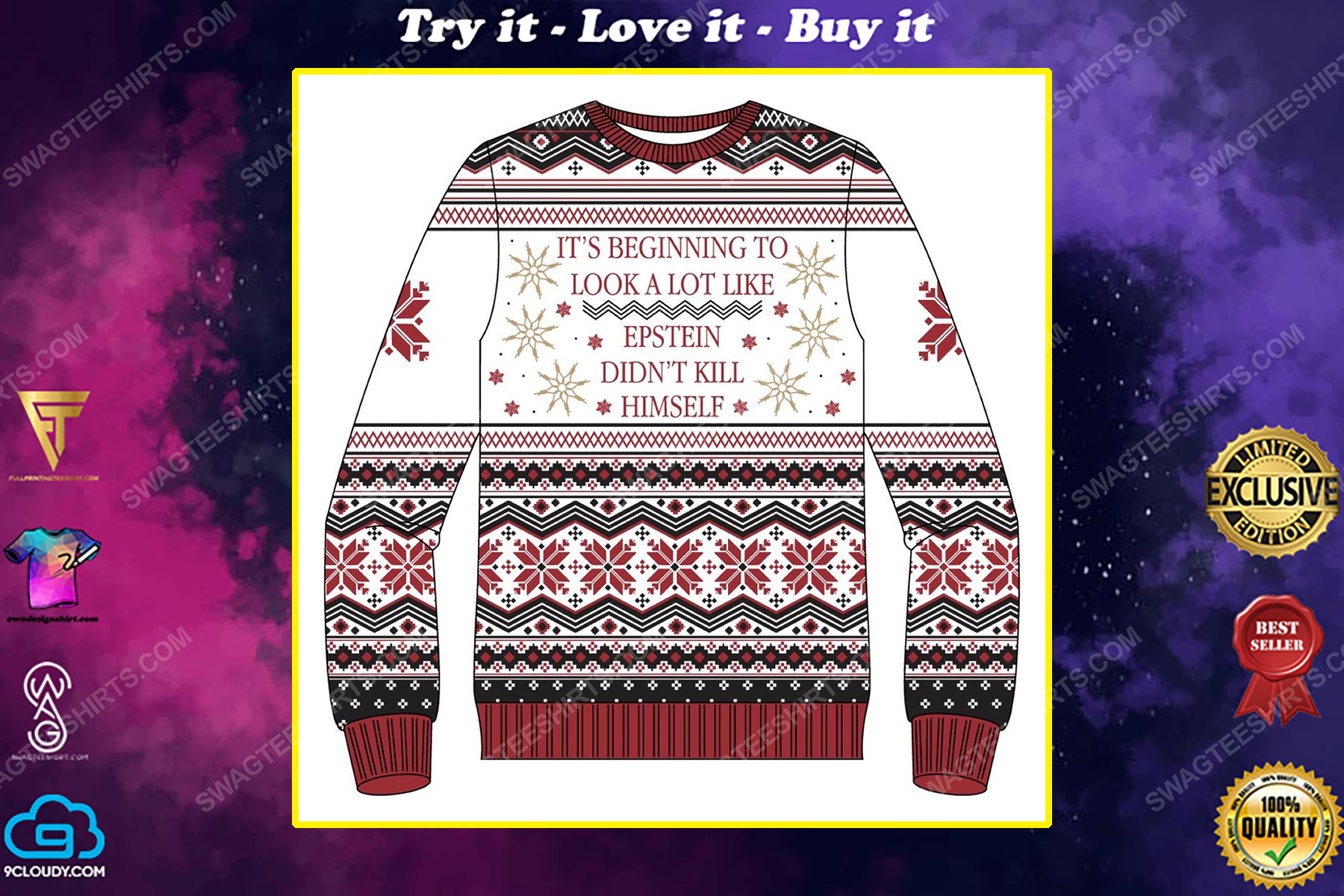 It's beginning to look a lot like epstein didn't kill himself ugly christmas sweater