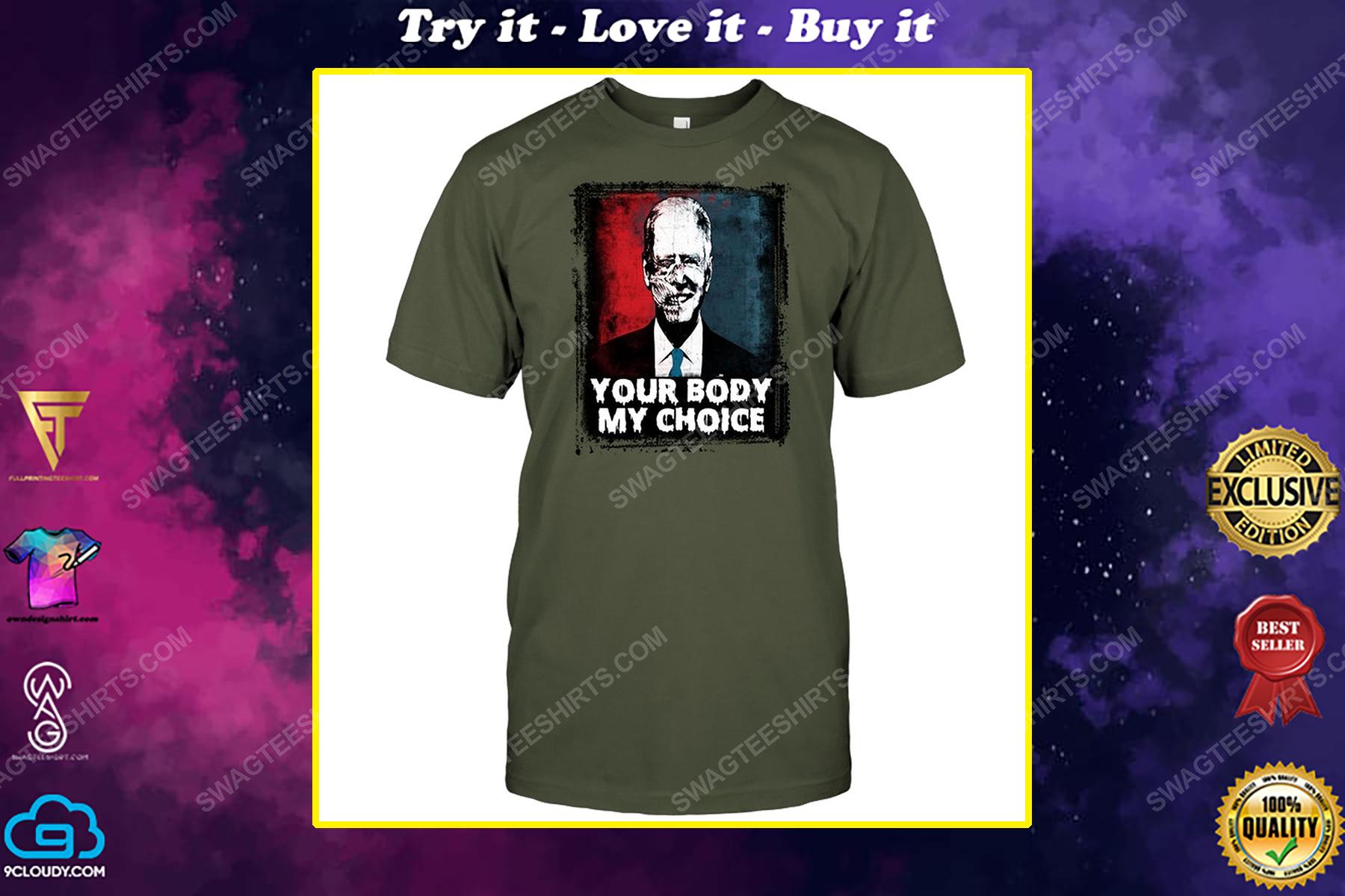 Joe biden american horror story your body my choice political shirt