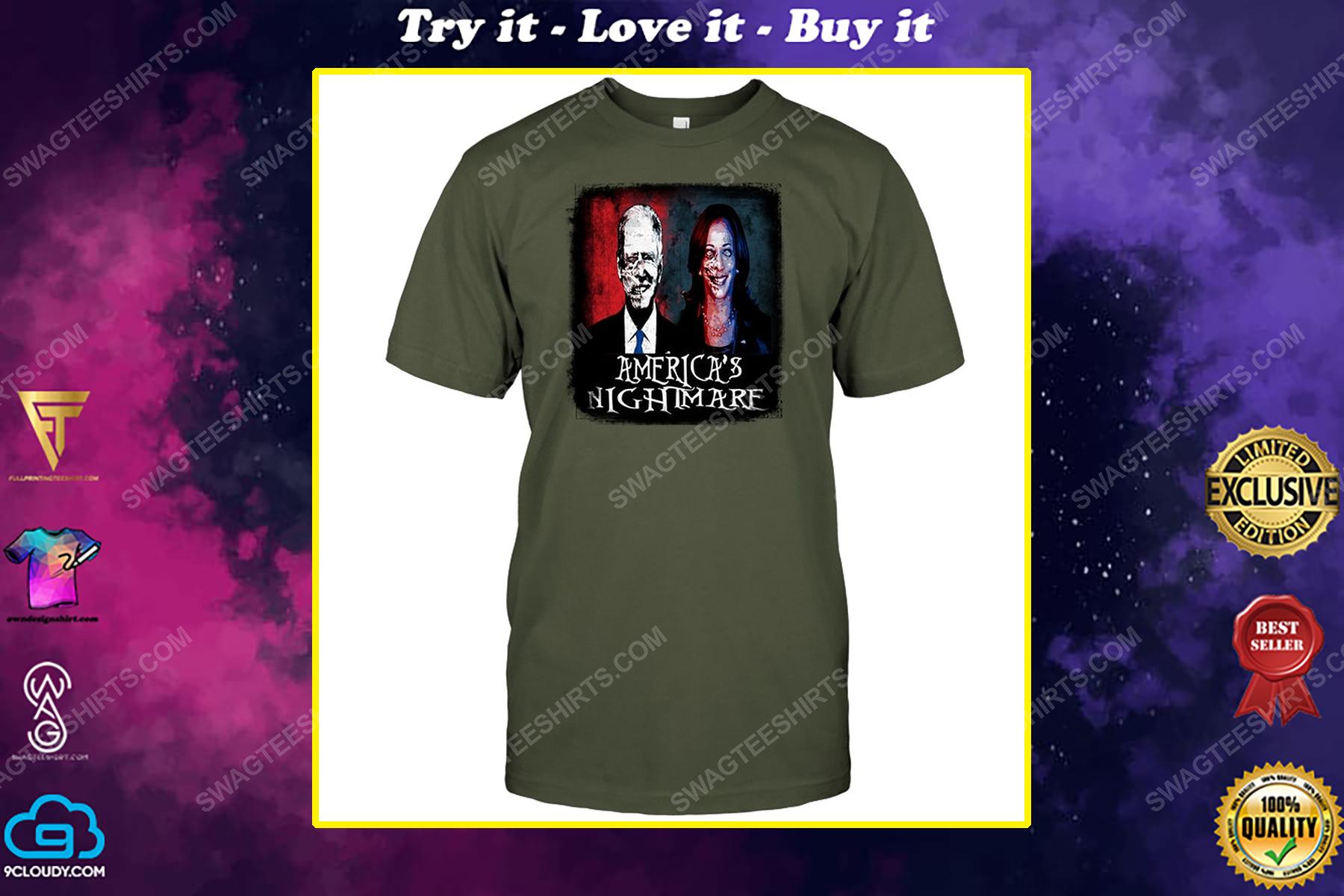 Joe biden and kamala harris america's nightmare political shirt