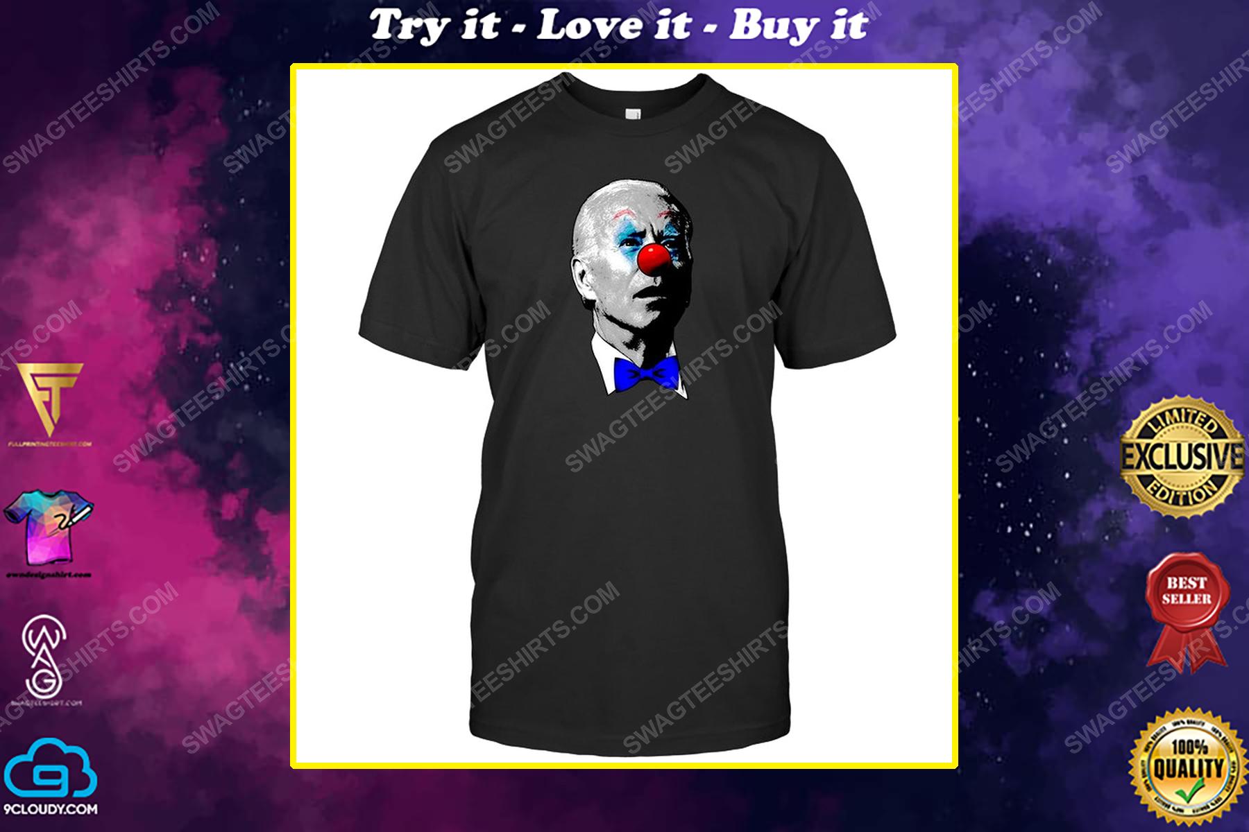 Joe biden clown face political shirt