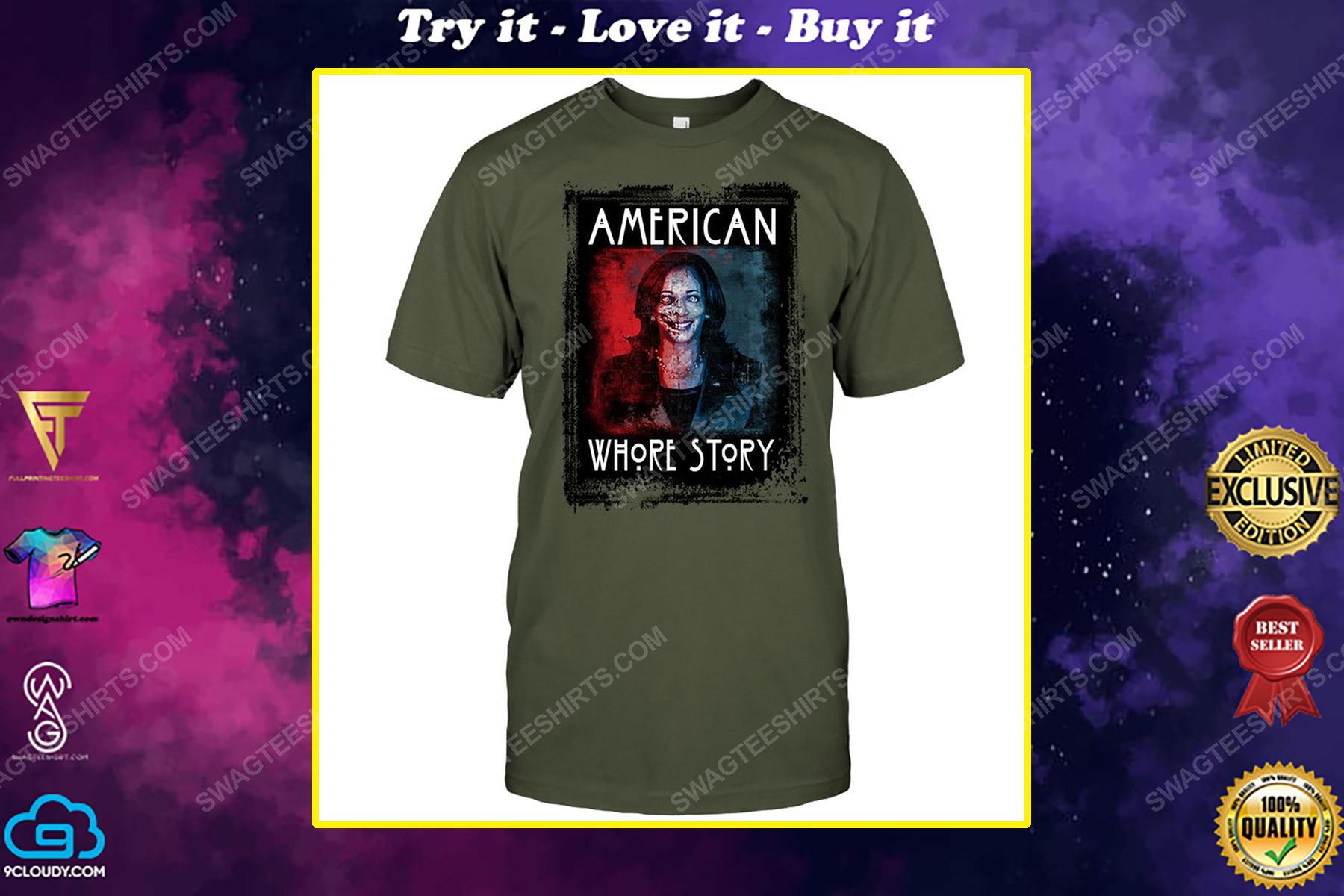 Kamala harris american whore story american horror story political shirt