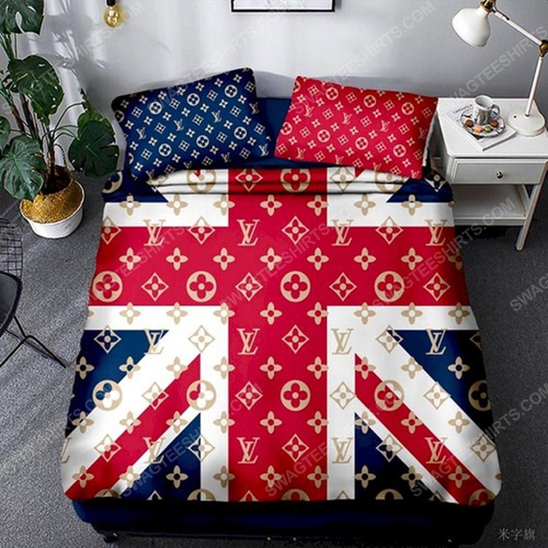 Lv and flag of the united kingdom full print duvet cover bedding set 2