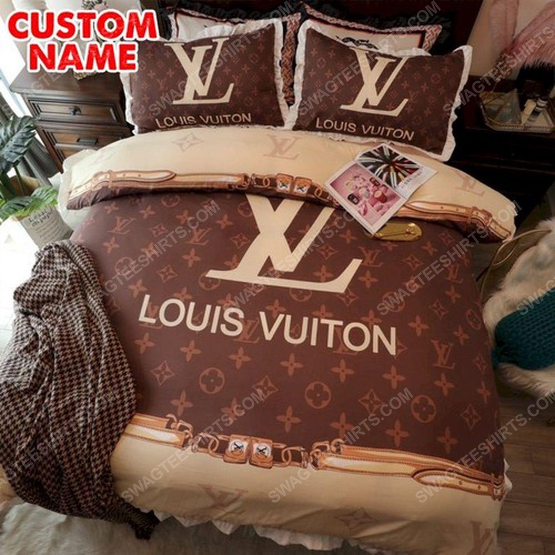 Lv monogram original full print duvet cover bedding set 3 - Copy