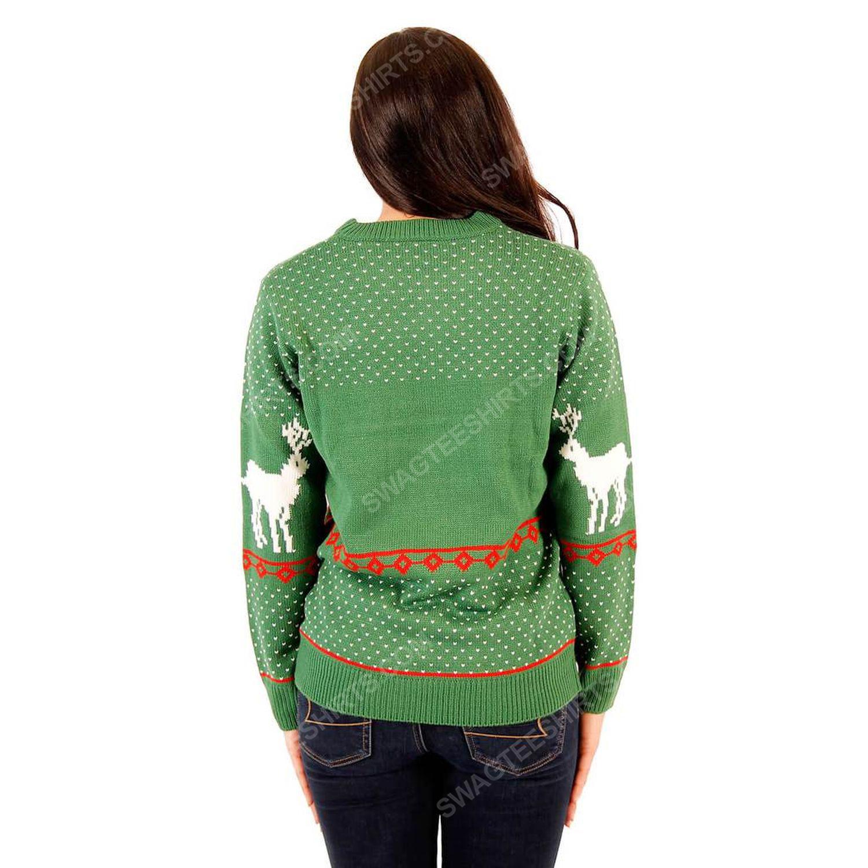 Merry christmas ya filthy animal reindeer full print ugly christmas sweater 4