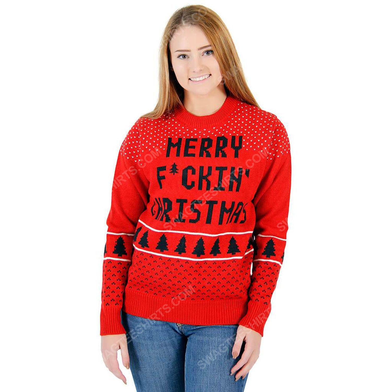 Merry fucking christmas ugly christmas sweater 2 - Copy