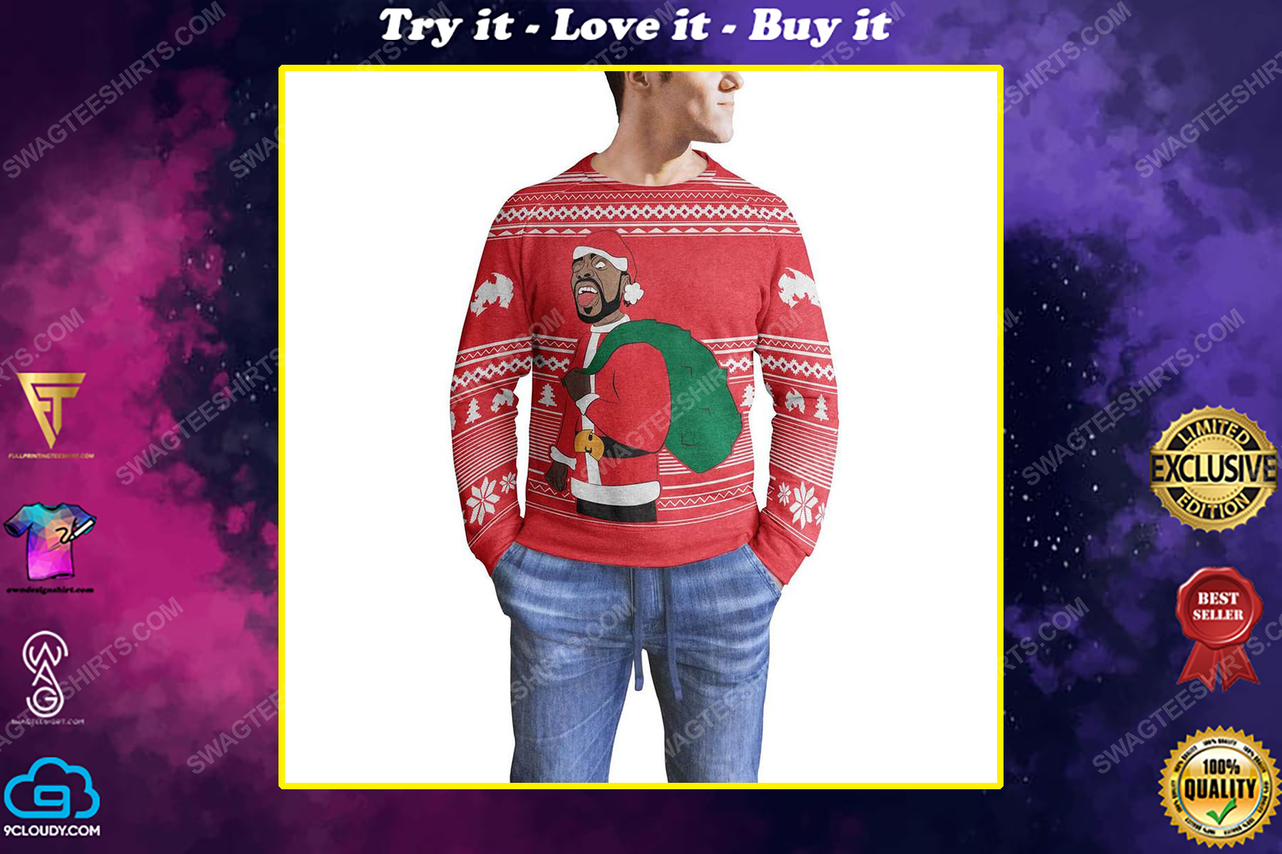 Method man and redman full print ugly christmas sweater