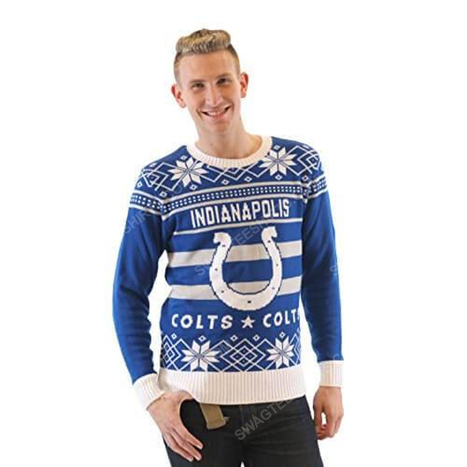 NFL indianapolis colts full print ugly christmas sweater 4