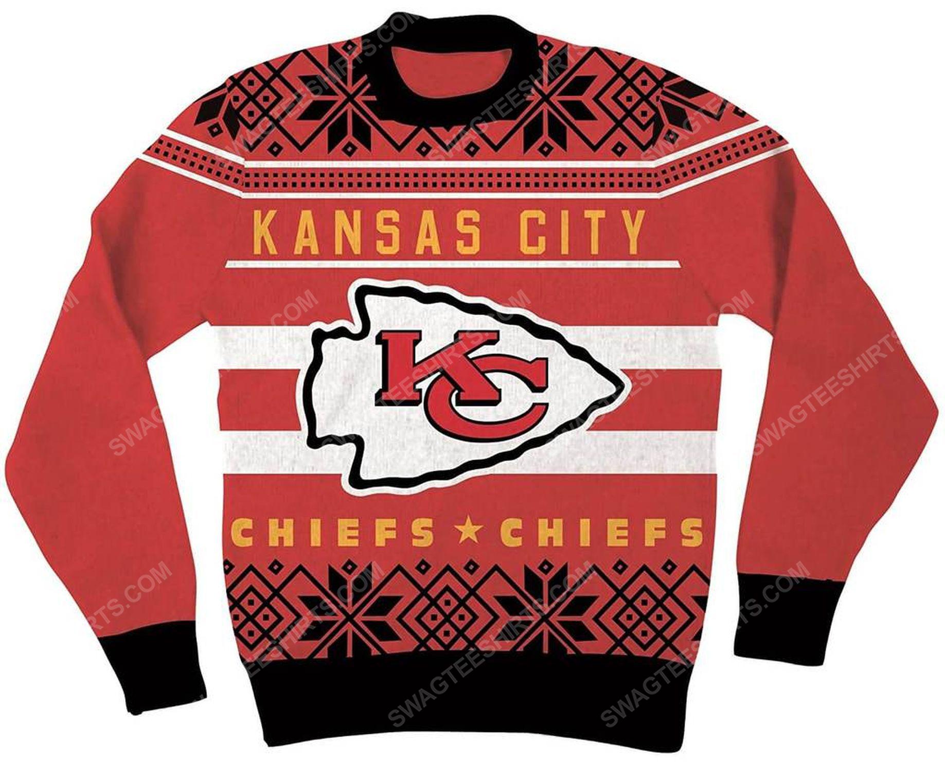 NFL kansas city chiefs full print ugly christmas sweater 2