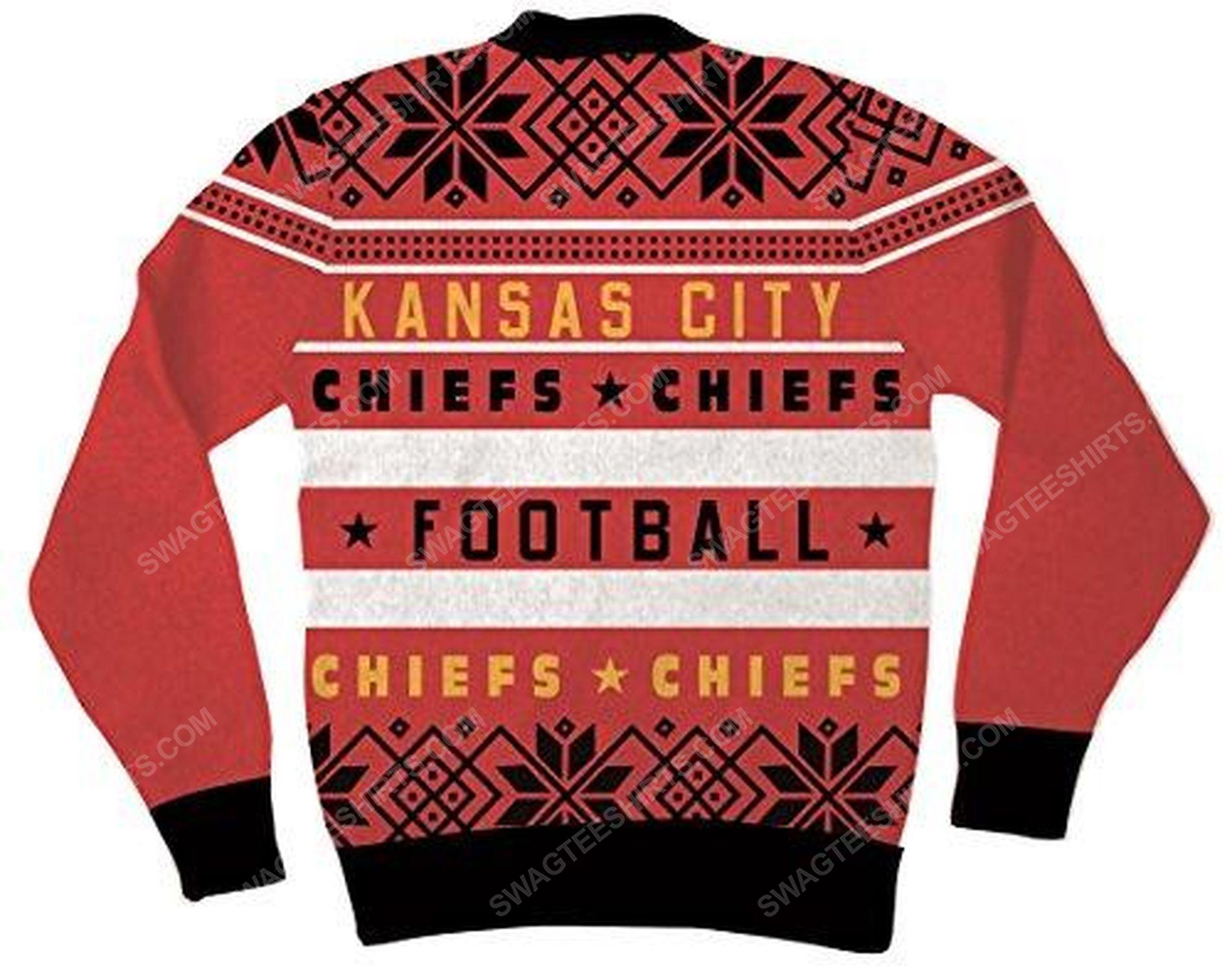 NFL kansas city chiefs full print ugly christmas sweater 3